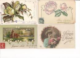 Lot De 22 CPA Bonne Année  Toutes Voyagées Entre 1904/1910 - New Year
