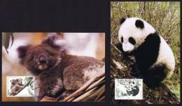 1995  Emission Conjointe Avec L´Australie Panda Et Koala - 1949 - ... République Populaire
