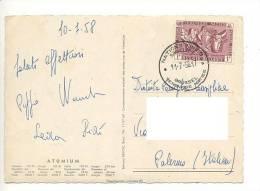 $3-2387 BELGIO 1F NATIONS UNIES ISOLATO CARD TO ITALY - Belgio
