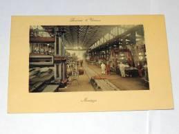 Carte Postale Ancienne : Acieries D' UNIEUX : Montage , Animé - France