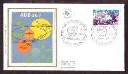 """Y/T N° 1908 Sur FDC Sur SOIE - Oblit 1 Ier J. """" PREVESSIN - 22/10/76"""" - Accélérateur Européen De Particules. - FDC"""