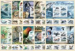 BURUNDI 2011 - Fauna II (10 Sets: 4v + S/S Each) - Mi 1974//2121 + B151//169 - Burundi