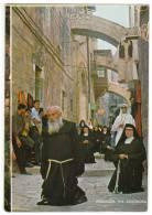 "ASIA ISRAEL JERUSALEM THE ""VIA DOLOROSA"" THE PROCESSION Nr. 8582 OLD POSTCARD - Israel"