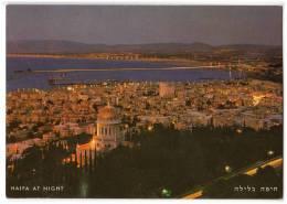 ASIA ISRAEL HAIFA TA NIGHT Nr. 5927 OLD POSTCARD - Israel
