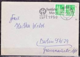 Brief, MeF Koelner Dom Im Paar, MS Frankfurter Messe, Nach Berlin 1950 (36945) - Zone Anglo-Américaine