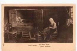 CPA/F318/JOZEF ISRAELS L EPOUX MALADE - Peintures & Tableaux