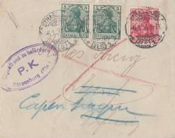 DR Brief Mif Minr.2x 85,86 Gel. In Schweiz Strassburg 6.1.16 Zensur - Deutschland