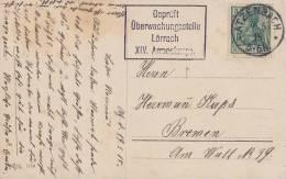 DR Karte EF Minr.85 Atzenbach 9.5.15 Zensur Gepr. Überwachungsstelle Lörrach XIV. Armeekorps - Deutschland