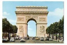 """PARIS :  """"L' Arc De Triomphe De L' Etoile"""" - Vieilles Voiture 2CV 4L Autobus - Arc De Triomphe"""