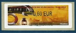 9258 - Vignette De LISA2 : FETE DE LA MER - BREST 2012 (Type ??). 0,60 EUR / LETTRE PRIORITAIRE - 2010-... Illustrated Franking Labels