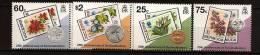 Bermudes Bermuda 1995 N° 680 / 3 ** Monnaie, Pièces De Monnaie, Timbre Sur Timbre, Fleurs, Cochon, Poisson, Oiseau - Bermuda