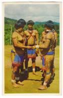ETHNICS INDIAN GIRLS IN THE FERTILIZED RITUAL DANCE CARIBBEAN FAMILY OLD POSTCARD - Ethnics