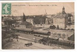 78 - MAISONS LAFFITTE - Vue Sur La Gare Et L'Gôtel De Ville - Maisons-Laffitte