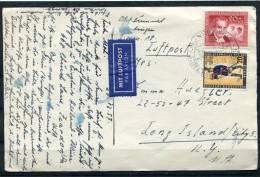 Germany/berlin  1957 Selfmade Post Card To USA   (MiF) - [5] Berlin