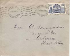 """Flamme Continue """" PARIS 73 RUE DU RENDEZ VOUS """" - 1938 - Sur Enveloppe - Au Dos PARIS VIII DISTRIBUTION - Postmark Collection (Covers)"""