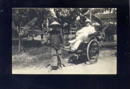 CP (Asie) Viet-Nam - Militaire Sur Un Poussse-Pousse - Carte Photo - Viêt-Nam