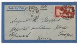 Envellope Du Tonkin    Timbreset Tampons Franchise Militaire - Marcofilia (sobres)