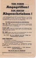 Rare Tract Américain En Allemand Et Polonais à L'attention Des Soldats Se Trouvant Sur Le Mur De L'atlantique - 1939-45