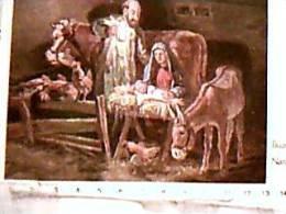 BUON NATALE  ILLUSTRATA MOLEVELD SACRA FAIGLIA E ASINO E GALLINE  VB1969 EA8170 - Natale