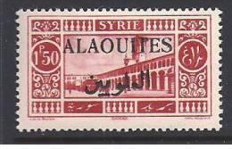 ALAOUITES - N° 28 A * ( Surcharge Noire ) - Cote : 50  €