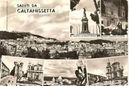 SICILIA -  Saluti Da CALTANISETTA - Panorama E 5 Vedutine - Caltanissetta