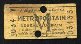 Document-4227     Ticket De Metro Madeleine - Europe
