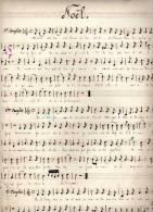 Partition Très Ancienne, écrite à La Main: Noël. - Partitions Musicales Anciennes