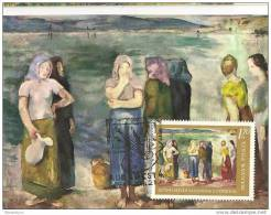 "TH - 4959 - Carte Maximale De Hongrie - Peinture De Szonyi Istvan ""Women On The Shore"" - Arte"