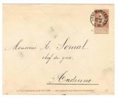 Enveloppe 5 Oblitérée Liège (Guillemains) - Ganzsachen