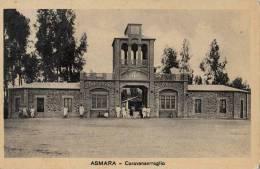 DC121-ERITRE 1934 AK ASMARA-KARAWASERAI+Leute- Gelauf. - Eritrea