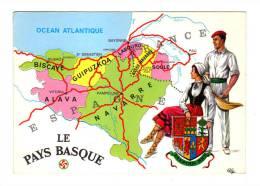 Le Pays Basque: Les Sept Provinces Basques, Pelote Basque, Carte Geographique (12-4596) - France