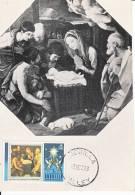 Carte-Maximum ANGUILLA  N°Yvert 149 / RENI / Adoration Des Bergers - Anguilla (1968-...)