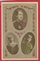 S.M.  Le Roi Albert Ier Et Ses Deux Fils  Les Princes Charles Et Léopold - Royal Families