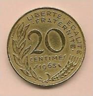 20 Centimes FRANCE1963 TTB - France