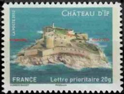 France Autoadhésif N°  722 A ** Le Château D´if - Verso Fond Blanc - Luchtpost