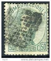 1872, AMADEO I, 50 CTS USADO - 1872-73 Reino: Amadeo I