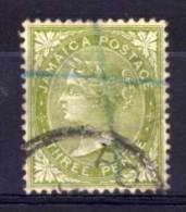 Jamaica - 1905 - 3d Definitive (Watermark Crown CA) - Used - Jamaica (...-1961)