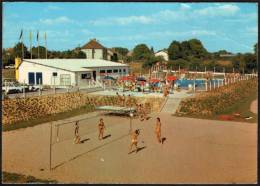 FRANCE DONZY (NIEVRE) - LA PISCINE - BEACH VOLLEY - PIEGA SU ANGOLO IN ALTO A DESTRA - Volleyball
