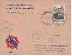 HAUT - RHIN  -   1946  -   MEETING DE L´ AERO- CLUB DU HAUT - RHIN LE 11 AOUT 1946 -  PLI LESTE   - - 1921-1960: Modern Tijdperk