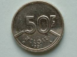 1990 VL - 50 Franc / Morin 827 ( Uncleaned - For Grade, Please See Photo ) ! - 08. 50 Francs