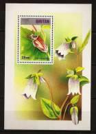 Bhoutan Bhutan 1997 N° BF 351 ** Animaux, Insectes, Melolontha, Fleurs, Clochettes - Bhutan