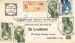 CAMEROUN - 1950-REGISTERED EXPLODED AIRMAIL COVER  EBULOWA TO CHICAGO,USA - Unclassified