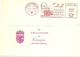 "Firm Window Cover With Nice Picture Meter Linhof Kamera Und ""Die Technica Die Koningin In Window"" 20-1-1965 - Fotografie"