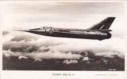 Real Photo Fairey Delta II Aircraft Postcard (AM2019) - 1946-....: Modern Era