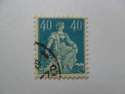 Helvetia Assise 1921            Zu156  Cote  2.85 Frs - Usados