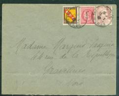 Affranchissement Composé à 5,50 Francs Dont 4 Francs Type Gandon  En Mars 1947    - Am3911 - 1945-54 Marianne De Gandon