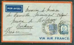 Lettre Affranchie Du Brésil Pour La France En Janvier  1940  Am4001 - Brazil