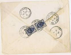 Polish Cancels On Russian Stamps, Mi 49 Strip Cover From Warsaw To Moscow 1893