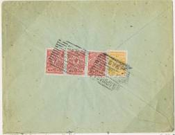Polish Cancels On Russian Stamps, Mi 45/47 Cover From Warsaw To Vienna, 1905