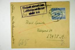 Germany Einheit Nimmt An Luftfeldpostdienst Nicht Teil, Stempel On 1942 Cover RR